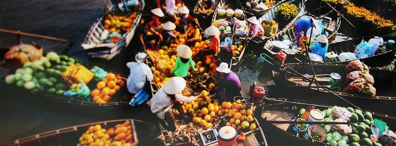 Marche flottant a Can Tho - Lua Viet